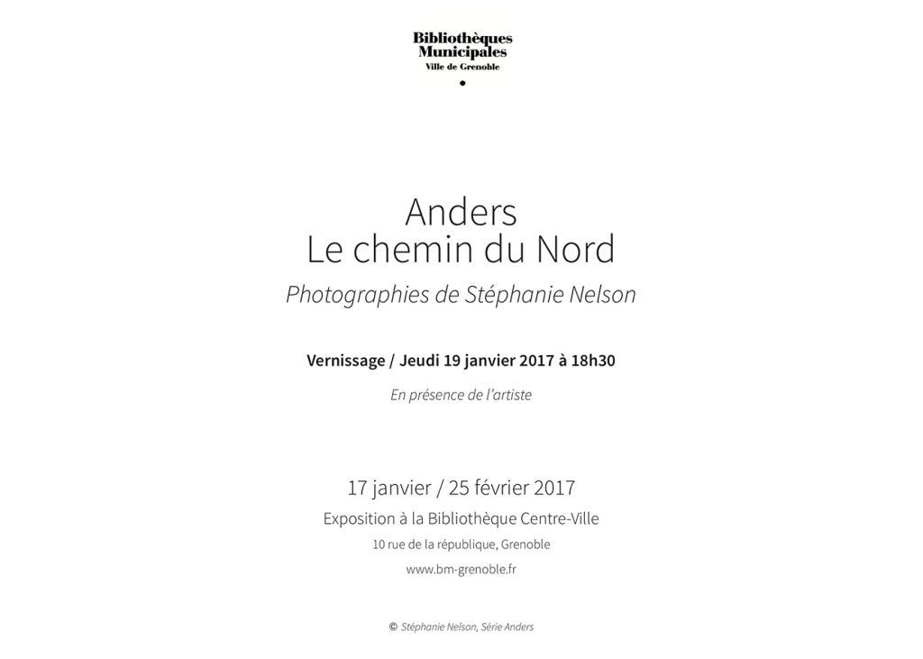 Invitation ANDERS bibliotheque centre ville Grenoble 2017